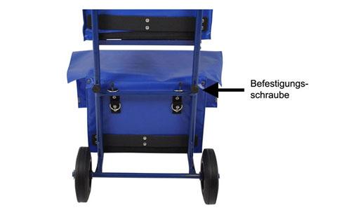 Zeitungswagen ohne Werkzeug montieren
